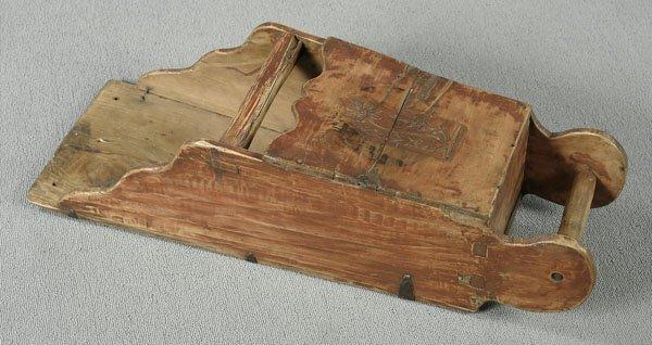 7: Wooden grain scoop,