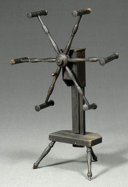 19: 19th century yarn winder,