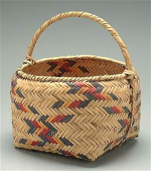 Choctaw cane basket,