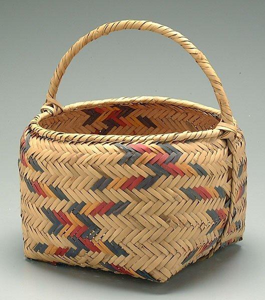 21: Choctaw cane basket,