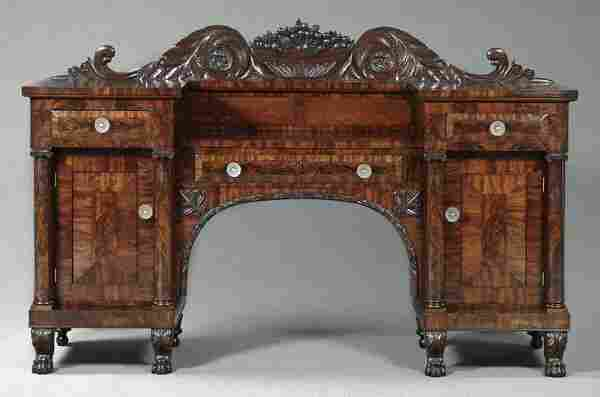 Ornate Empire sideboard,