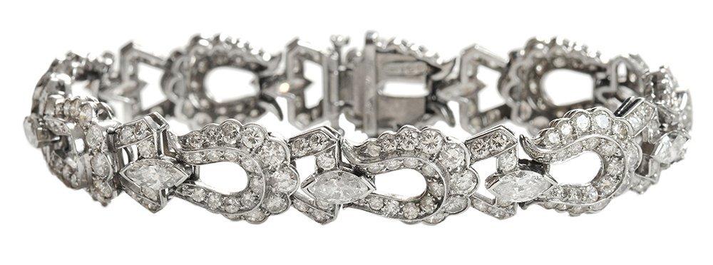 Antique Platinum and Diamond Bracelet
