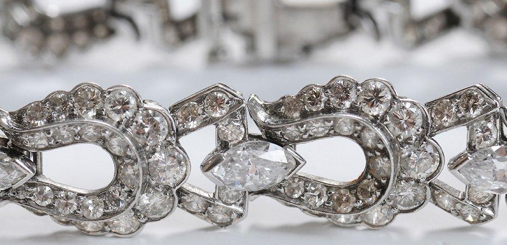 Antique Platinum and Diamond Bracelet - 2