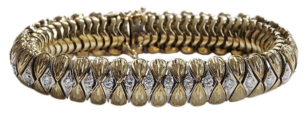 18 Kt. Gold and Diamond Bracelet