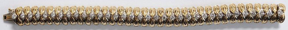 18 Kt. Gold and Diamond Bracelet - 2