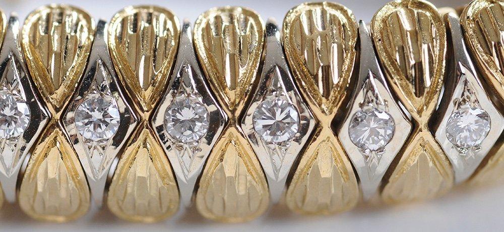 18 Kt. Gold and Diamond Bracelet - 3
