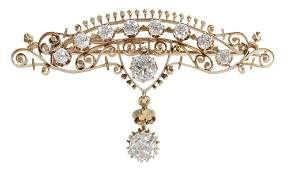 Fine Antique Gold and Diamond Brooch