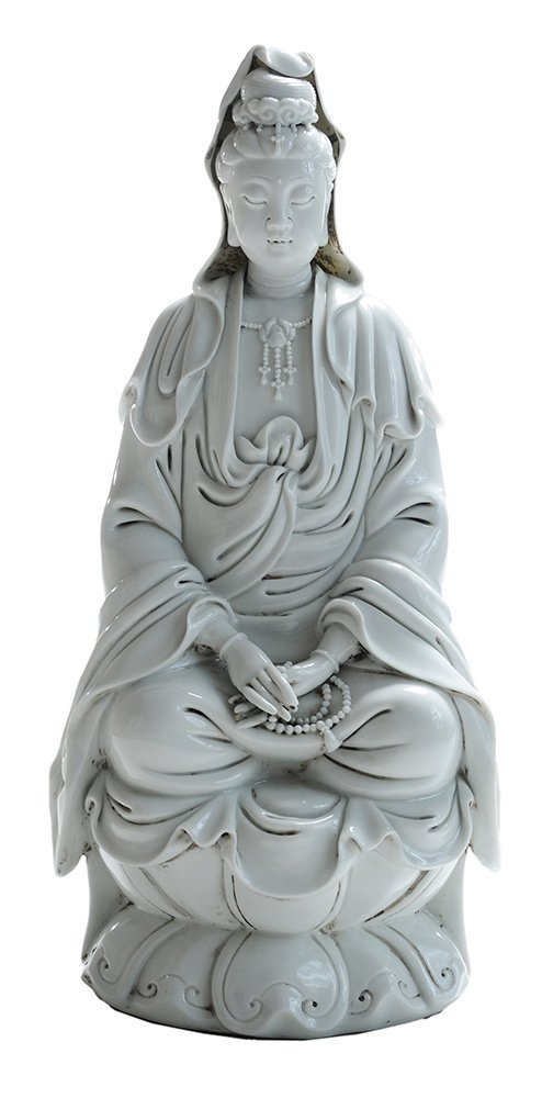 Blanc de Chine  Figure of a Seated