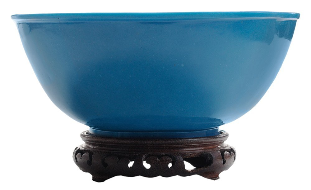 Turquoise Blue Beijing Glass Deep