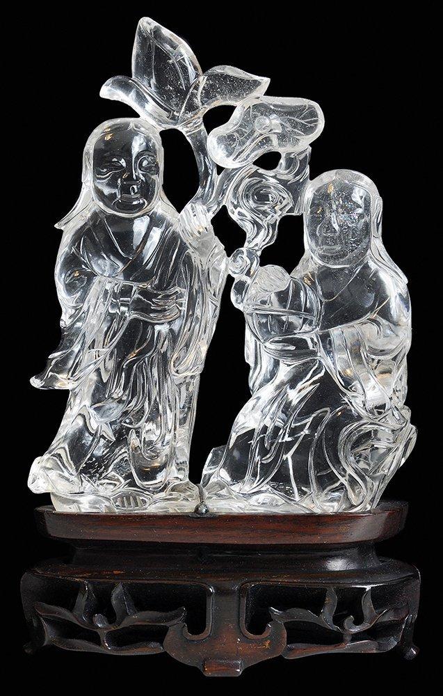 Finely Carved Rock Crystal Figural