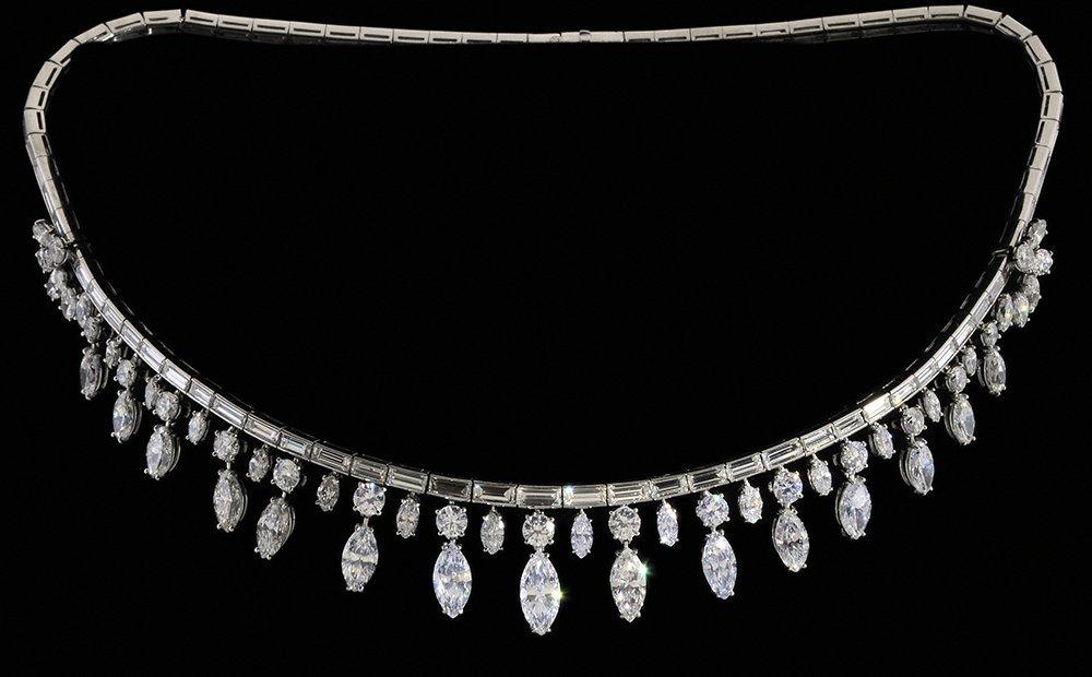 Fine Diamond and Platinum Necklace