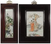 Two Hand-Painted Famille Verte