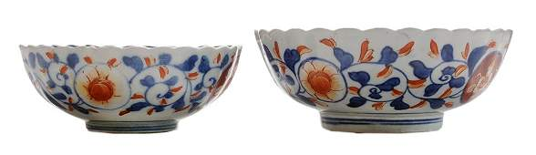 Two Japanese Imari Porcelain Bowls
