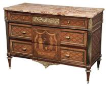 Continental Neoclassical Marquetry-