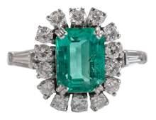 18 Karat White Gold Emerald