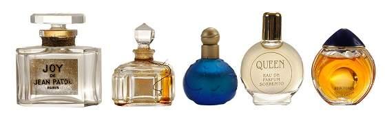 Five Mini Perfume Bottles