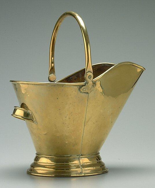 3: Brass coal hod,