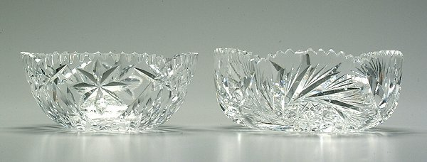 18: Two cut glass bowls: