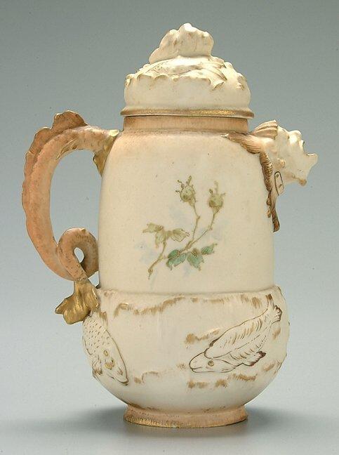 20: Royal Worcester style jug,