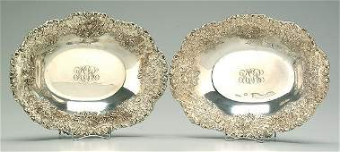 484 Pair Kirk Repouss sterling silver