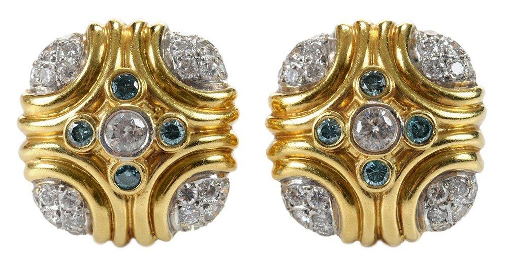 18 Karat Yellow Gold and Diamond