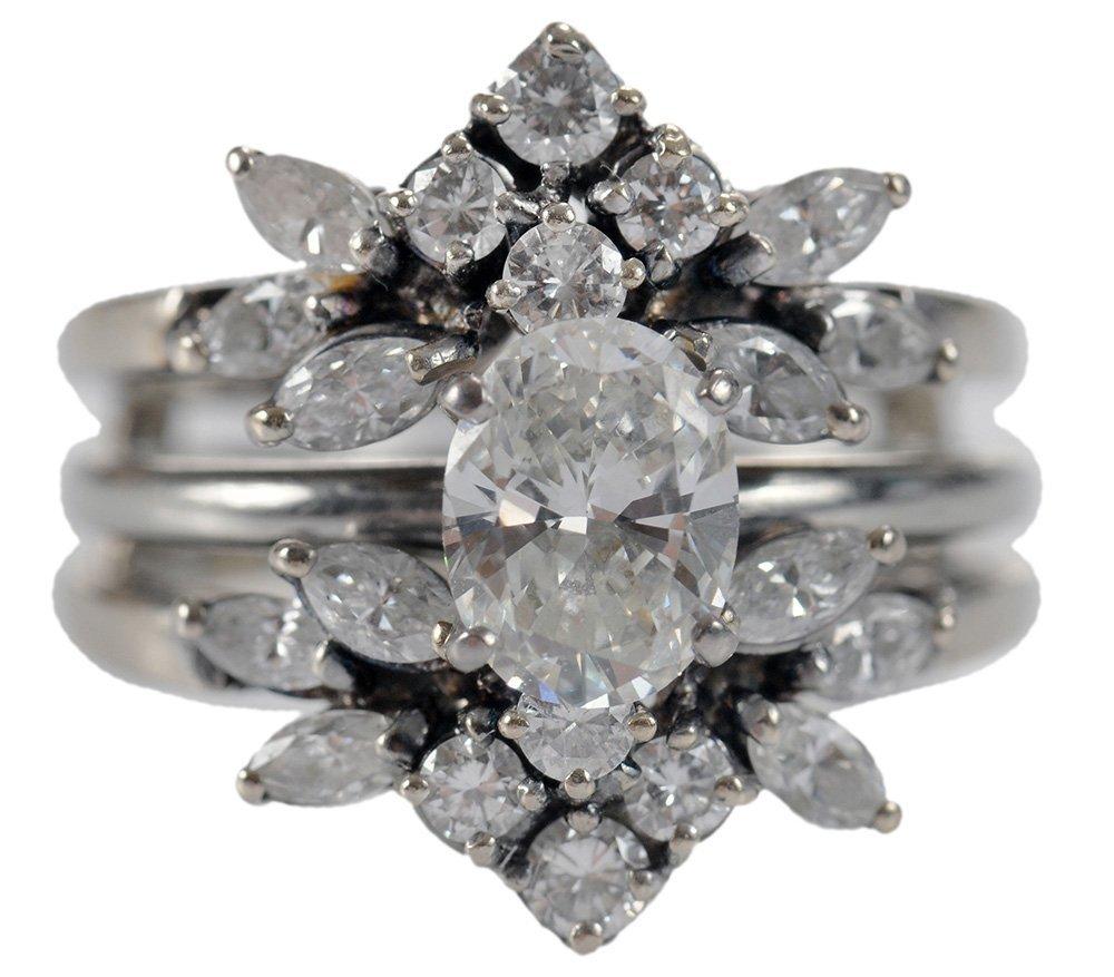 18 Karat White Gold Diamond Wedding