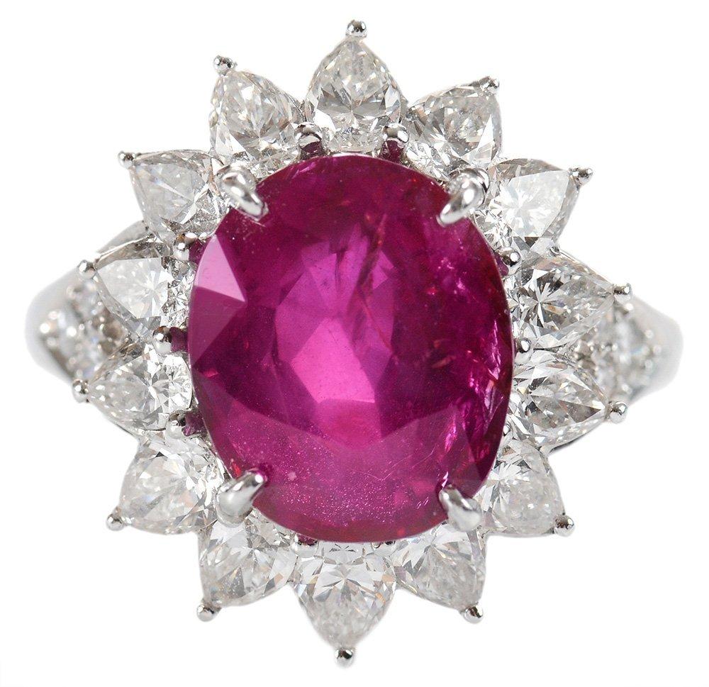 Fine Burmese Ruby and Diamond