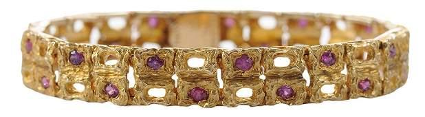 14 Karat Yellow Gold Bracelet with