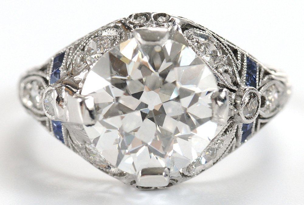 Vintage 3.45 Carat Diamond Ring