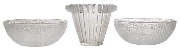 Three Lalique Bowls