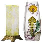 Val St. Lambert Diamond-Shaped Vase