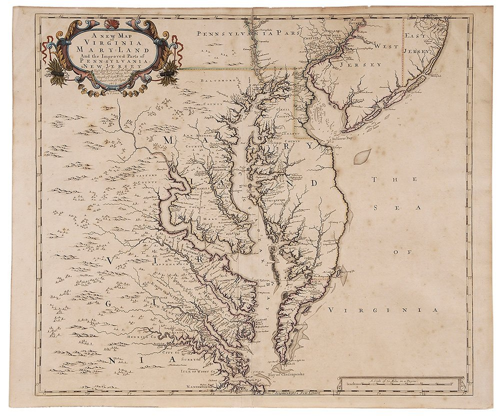 [A New Map of Virginia Maryland and