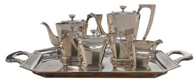 Four Piece Japanese Sterling Tea