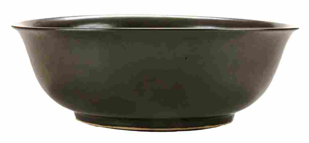 Large Teadust-Glazed Deep Bowl