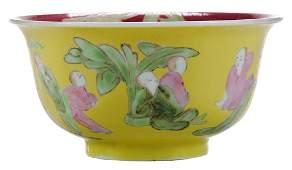Famille Rose Porcelain Boys