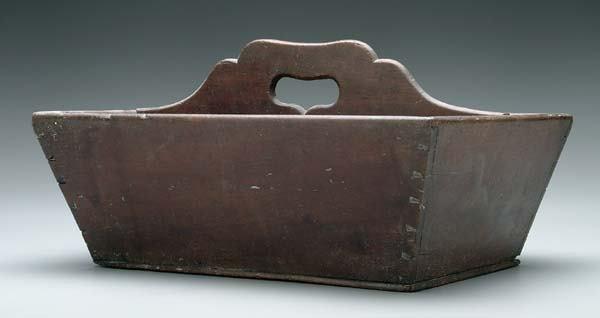 13: Mahogany cutlery box,