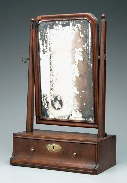 15: British 18th century dressing mirror,
