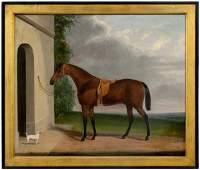 56: English School equestrian painting,