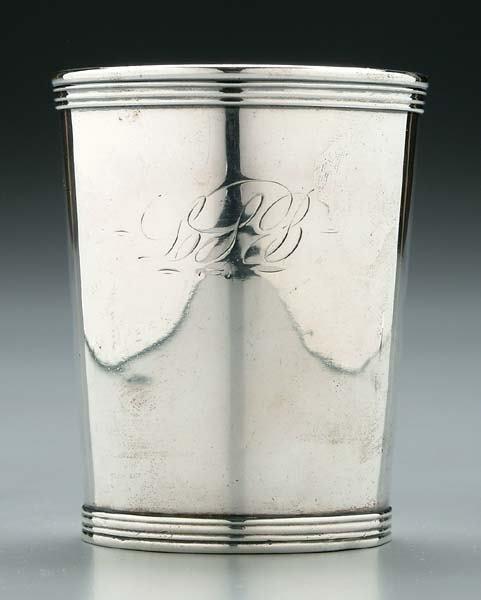 243: Kentucky coin silver julep cup,