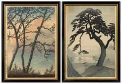 400: Two Japanese woodblock prints: