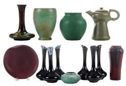 Nine Pieces American Art Pottery