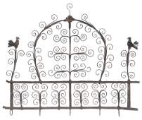Hand-Crafted Wrought Iron Utensil Rack