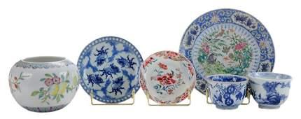 Six Porcelain Table Articles