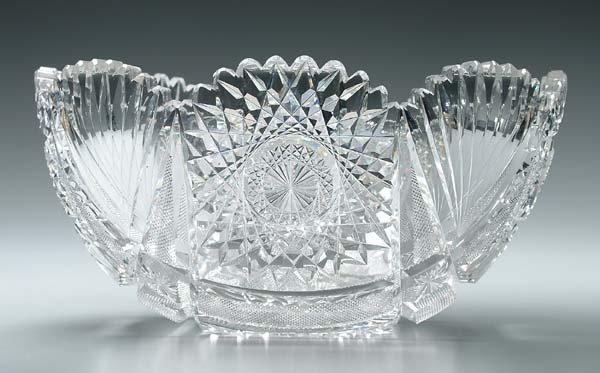3: Cut glass bowl,