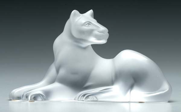 5: Lalique art glass panther,