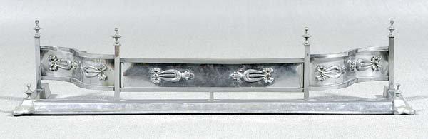 12: Polished metal fender,