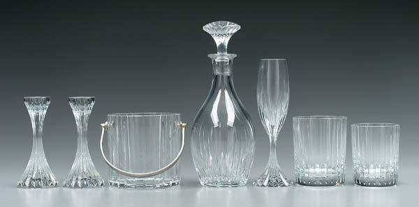 15: Group Baccarat crystal tableware: