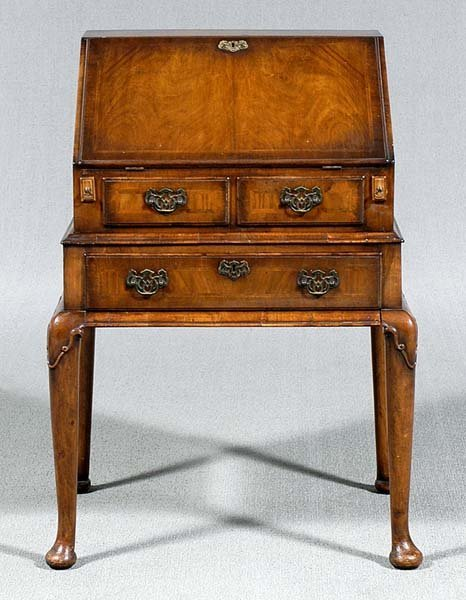 16: Queen Anne-style desk on frame,