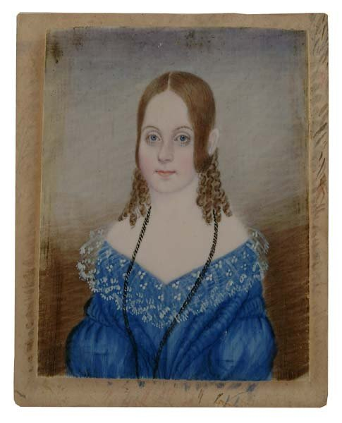 83: 19th century portrait miniature,