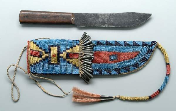 173: Beaded sheath, knife.